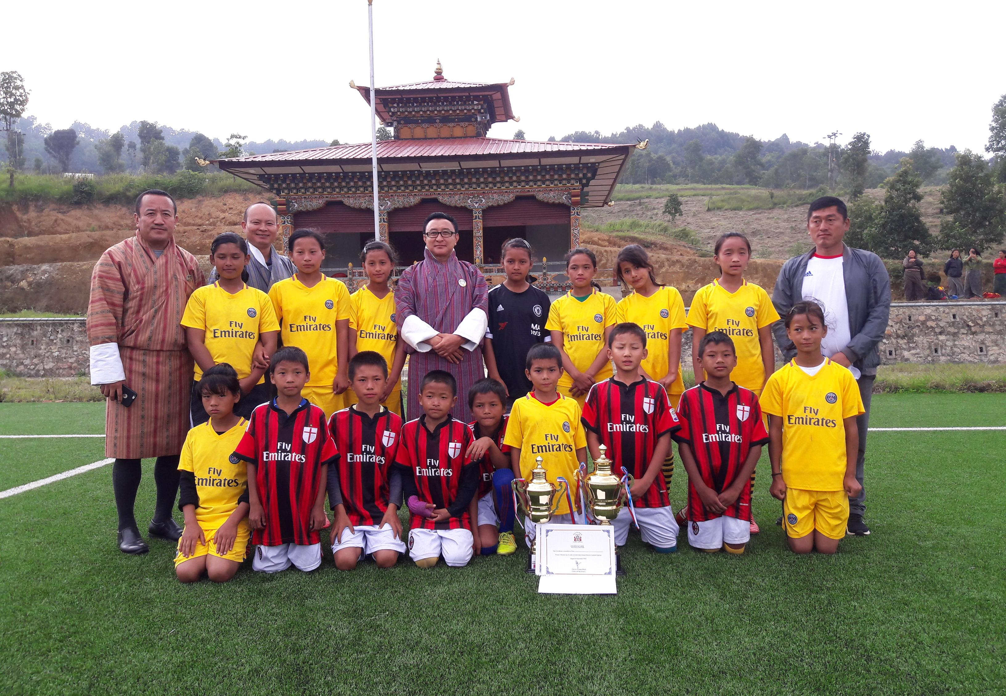 Intra-Dzongkhag Grassroot footbal tournament organized
